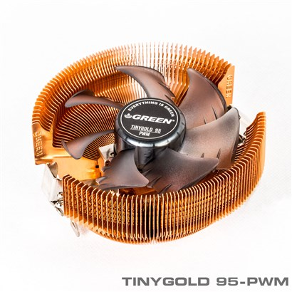 فن سی پی یو گرین GREEN CPU COOLER  TINYGOLD 95-PWM